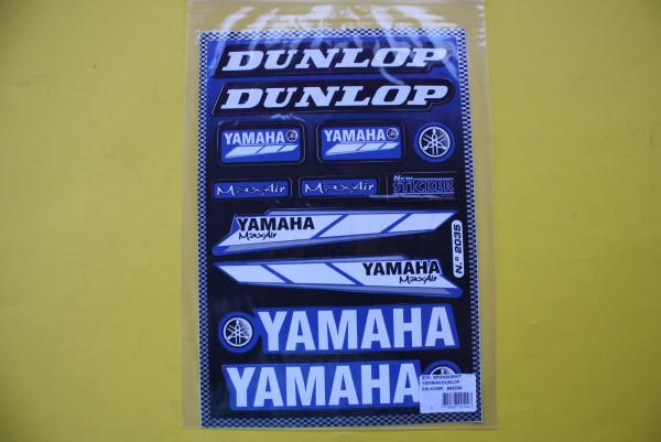 Aufkleberbogen Yamaha Dunlop Sponsoren kit